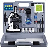AmScope M30-ABS-KT2-W 300X-600X-1200X Metal Body Optical Lens Kids Student Beginner Biological Microscope Kit Portable Consumer Electronics Home Gadget