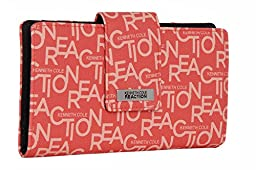 194534-877 Kenneth Cole Reaction Utility Clutch Marbled Style W/ Mirror (Monogram Coral)