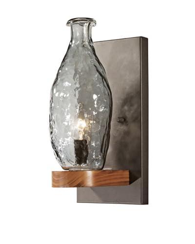 Bel Air Lighting Black Hand-Made Vase Wall Sconce