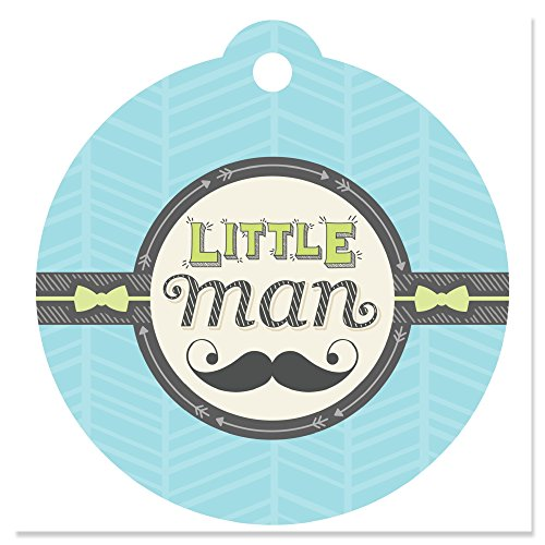 Dashing Little Man Mustache Party - Baby Shower or Birthday Party Favor Gift Tags (Set of 20) (Dashing Little Man Baby Shower compare prices)