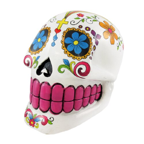 White Day Of The Dead Sugar Skull Money Bank