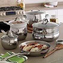 Waterless Cooking is a breeze with this Food Network stainless steel Waterless cookware set.