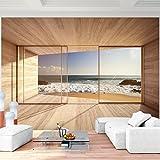 Vlies Fototapete 352x250 cm - 9051011a 'Fenster zum Meer'...