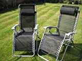 Set of 2 Garden Patio Loungers