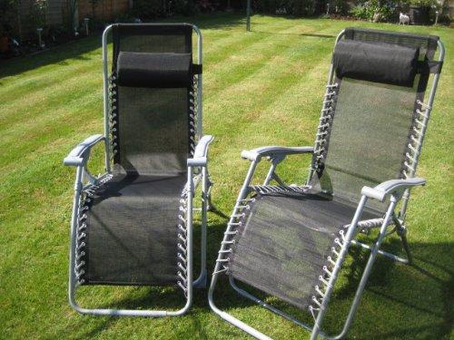 Set of 2 Garden Patio Loungers
