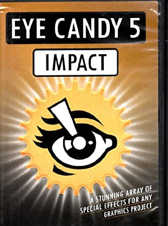 EYE CANDY 5- IMPACT By Alien Skin Software 10 Special Effects for any Graphics Project-Including Bevel, Brushed Metal, Extrude, Chrome and More!