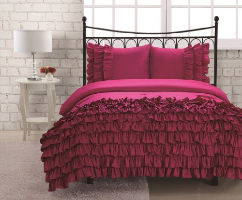 Purchase Twin Miley Mini Ruffle Comforter Set Pink