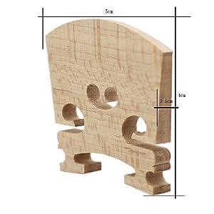 Soarun Extra Fine Grade Maple Violin Bridges - 2 Piece