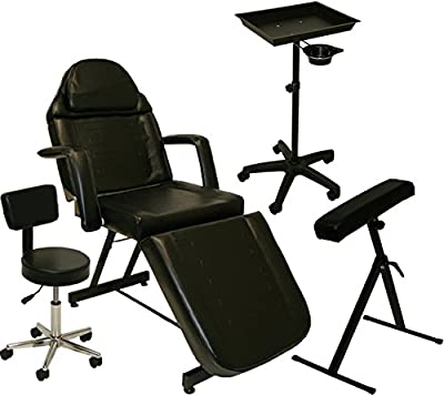 LCL Beauty Tattoo Package Massage Table Chair Arm Bar Bed Tray Studio Salon Equipment