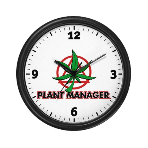 Wall Clock Marijuana Plant Manager