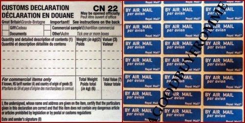lot-de-100-formulaires-de-declaration-en-douane-cn22-180-stickers-laeropostale-fournitures-de-royal-