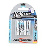 ANSMANN Micro AAA Akku Typ 1000mAh NiMH hochkapazitiv Profi Digital Kamera-Akkubatterie (4er Pack)