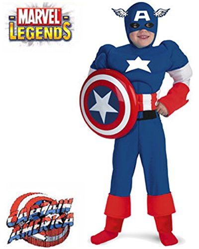 Kids Deluxe Marvel Captain America Costume And Shield Bundle