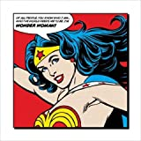 Set: Wonder Woman, You Know Who I Am Poster Art Print (16x16 inches) + 1x free 1art1 ® Collection Poster