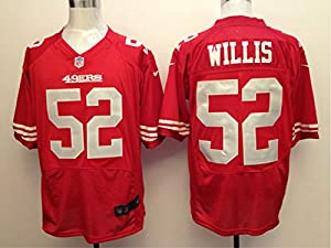 49ers Willis Jersey #52 Mens Red - L