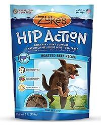 Zuke's Hip Action Dog Treats, Roasted Beef Recipe, 16-Ounce