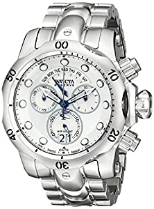 Invicta Men's 1537 Reserve Venom Chronograph Silver Dial Stainless Steel Watch