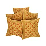 Rajrang Home Furnishing Embroidery Work Cotton Cushion Cover Set Of 5 PCs - B00RCM7NVI