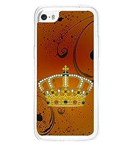 Crown 2D Hard Polycarbonate Designer Back Case Cover for Apple iPhone 5C