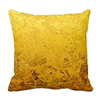 """Comi PURE GOLD pattern / gold leaf Pillows Covers 20"""" X 20"""" from Comi"""