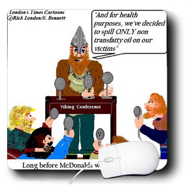Mp_2388_1 Londons Times Funny Food Coffee Other Digestibles - Viking Health Public Service Announcement - Mouse Pads
