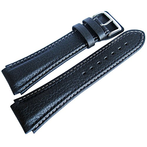 Di-Modell Pilot 24mm Long Black Leather Mens German Watch Strap (Modells compare prices)