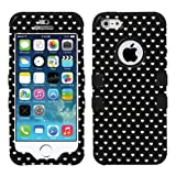 Product B00GAM6EH0 - Product title MYBAT TUFF Hybrid Phone Protector Package - Retail Packaging - Black Vintage Heart Dots/Black