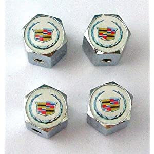 Cadillac Anti-theft Car Wheel Tire Valve Stem Caps