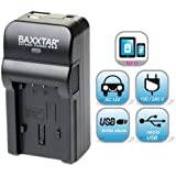 5 in 1 Ladegerät für Akku Olympus BLN-1 Bundlestar Baxxtar RAZER 600 II (70% mehr Leistung 100% mehr Flexibilität) für Olympus OM-D E-M1 E-M5 und OM-D E-M5 Mark II -- NEUHEIT mit Micro USB Eingang und USB-Ausgang, zum gleichzeitigen Laden eines Drittgerätes (iPhone, Tablet, Smartphone..)