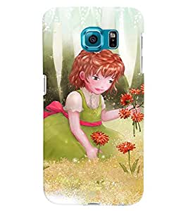 Fuson 3D Printed Girly Designer back case cover for Samsung Galaxy S6 - D4318