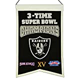 NFL Oakland Raiders 3X Super Bowl Champions Banner, One Size, Multicolor