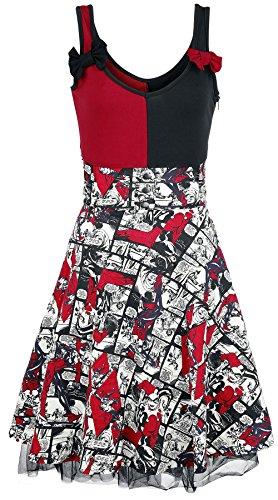 Harley Quinn Insanity Abito nero/rosso/bianco XS