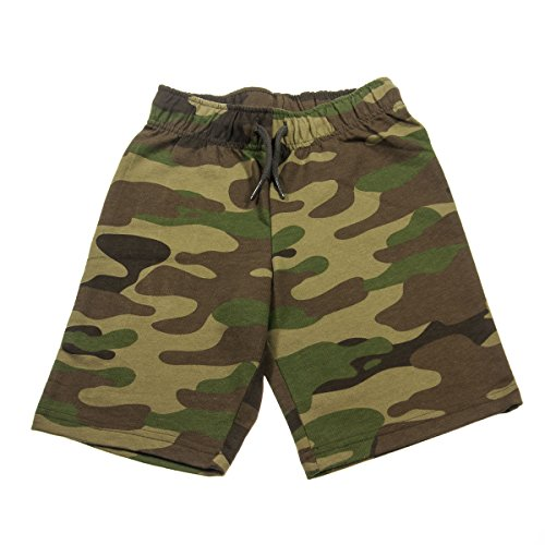 Boys Circo Striped 100% Cotton Shorts Camo L Cotton Camouflage Shorts