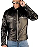 Reed 102z – Men's NAKED COW Leather Motorcycle Jacket MADE IN USA by Leather Factory Outlet
