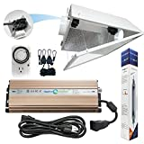 Hydroplanet™ Double Ended Air Cooled Hood Hydroponic Grow Lights Kit DE Reflector Hood With Dimmable Digital Ballast HPS LAMPS Horticulture Plant Grow System Set
