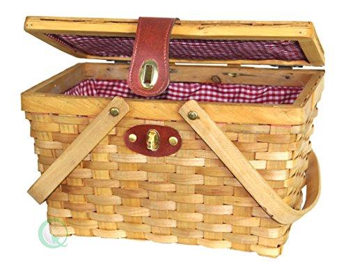 vintiquewise-cestino-da-picnic-con-rivestimento-interno-colore-bianco-rosso-a-scacchi-in-legno-color