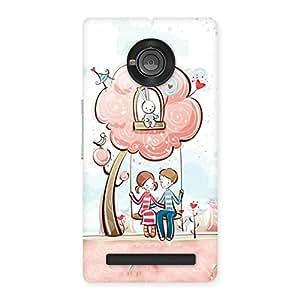 Cute Swing Love Multicolor Back Case Cover for Yu Yunique