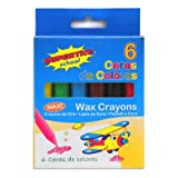 Supertite wax crayons set of 6 assorted colours