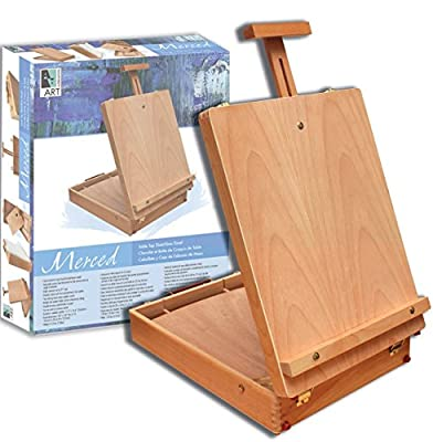 Artist Quality Full Size Table Easel with Art Gift Set Complete Package For Getting Started in Painting