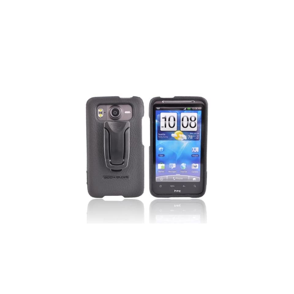 BLACK OEM Bodyglove Snap On Hard Case Cover w Adjustable KickStand, CRC92089 For HTC Inspire 4G