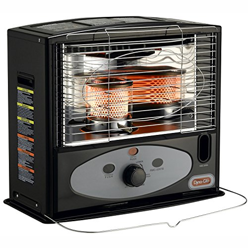Dyna-Glo RMC-55R7B Indoor Kerosene Radiant Heater, 10000 BTU, Black (Rmc 55r7b Wick compare prices)