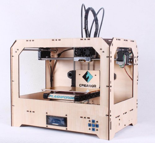 FlashForge 3D Printer, Dual Extruder, Including 2 Spools of ABS Filaments