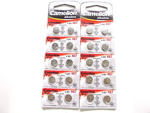 20 Camelion AG7 / LR57 / 195 / 395 Button Cell Watch Battery With Long Shelf Life (Expire Date Marked) (395 Watch Battery compare prices)