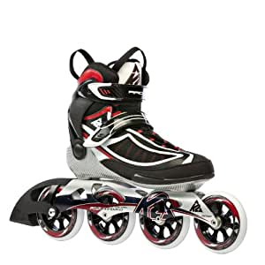 K2 Sports Men's Radical 100 Training 2012 Inline Skates (Black/Red/White, 8)