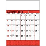 Red & Black Commercial Planner Wall Calendar