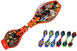 ORANGE avengers/Class A/Wave board with Mirror surface very strong Pu wheel with LED Flash lights on wheel free Military bag