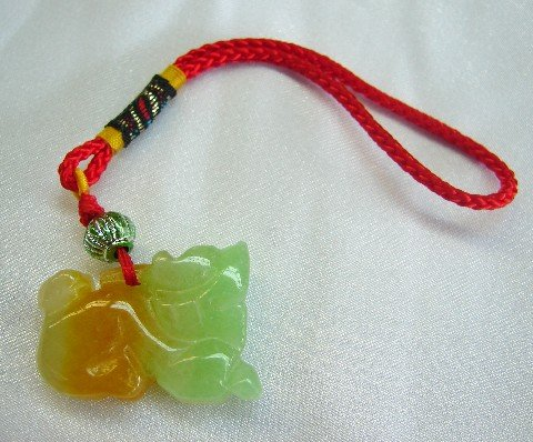 Lucky Charms ~ Feng Shui Jade Pi Yao Charm (Ward Off Flying Chi As Well As Illness Chi)