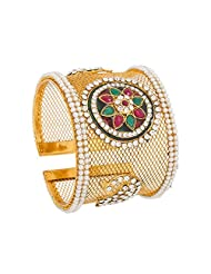 The Luxor Traditional Red Green Kada For Women