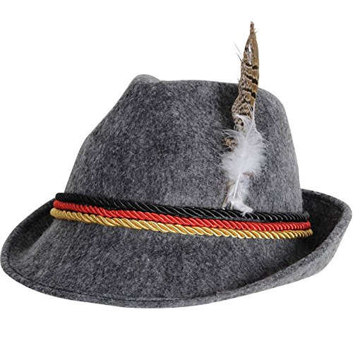 Beistle Co German Alpine Hat Gray