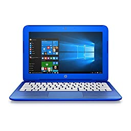 HP Stream 11-r010nr 11.6-Inch Notebook (Intel Celeron Processor, 2GB RAM, 32 GB Hard Drive, Windows 10 Home 64- Bit), Cobalt Blue